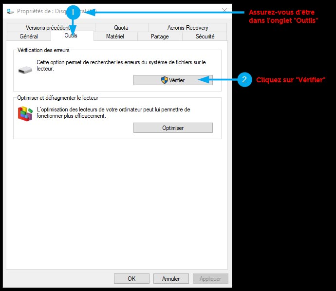 scandisk pour Windows 10