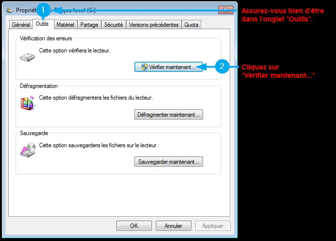 scandisk pour Windows 7