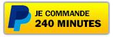 Je commande 240 minutes avec Paypal